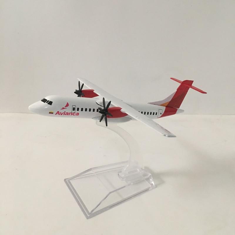 JASON TUTU Plane Model Airplane Model 16cm Columbia Airlines Avianca ATR-600 Aircraft Model Diecast Metal Airplanes 1:400 Plane
