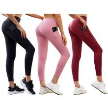 Leggings Sports Yoga-Pants Elastic Fitness Slim Workout High-Waist LI-FI