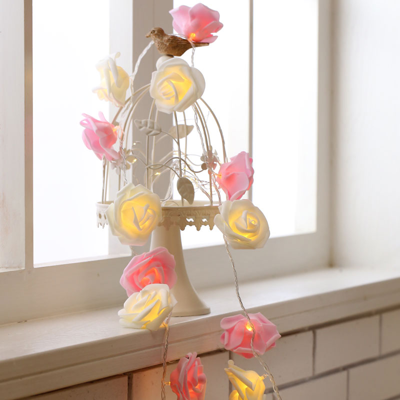 LED Rose Light String Waterproof Small Lanterns Girl Heart Decorative Light String Marriage Confession Light String