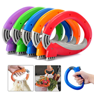 Image 2 - 1pcs  Portable shopping bag carrier Effort hooks Grocery Bags Holder Handle  Foldable  Carrier Lock Kitchen Tool gift