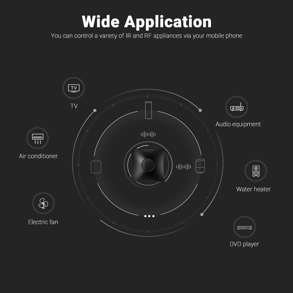 RM4C PRO Smart WiFi Home Universal IR RF Automation  Remote Controller Timing Function For Home Appliances For iOS Android