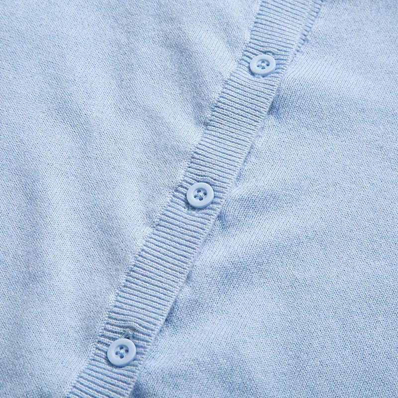 미니 발라 어린이 양모 니트 카디건 2020 여름 새 남자와 여자 아기 얇은 면화 스웨터