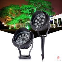 LED Outdoor Spotlight 12V/24V/220V Floodlight Garden Landscape Wall Wash Lighting IP68 Rates Tree Grasses Backyard Lawn Lamp