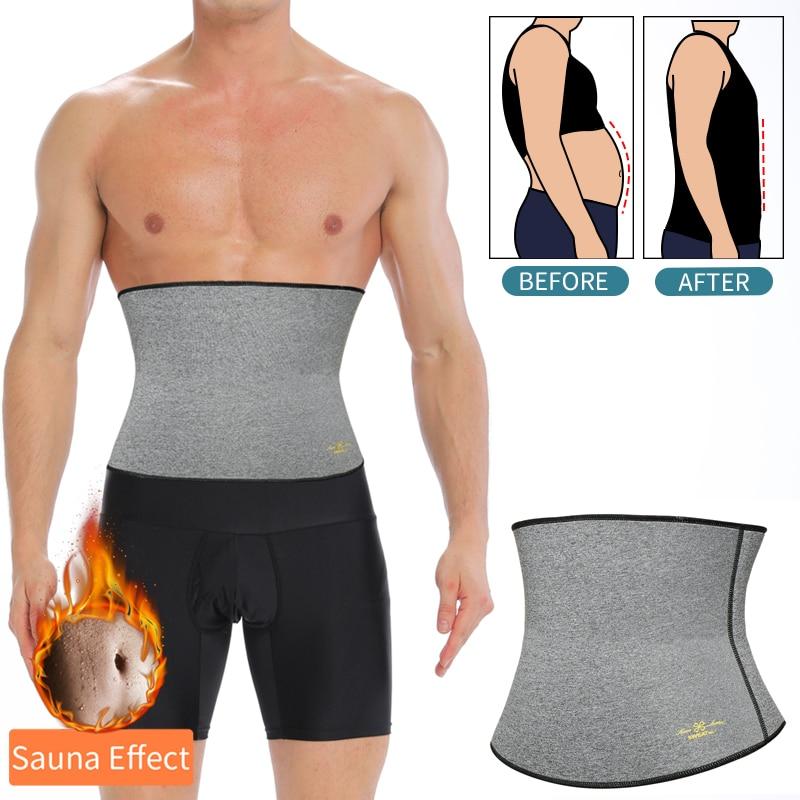 Mens Waist Trainer Modeling Belt Belly Cincher Shapers Slimming Body Shaper Weight Loss Shapewear Abdominal Sweat Slim Trimmer