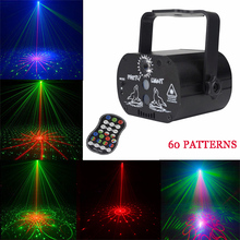 60 Patterns LED Disco Party Light USB Laser Projection Lamp Indoor Stage Lighting Effect Show for Home Party KTV DJ Dance Floor