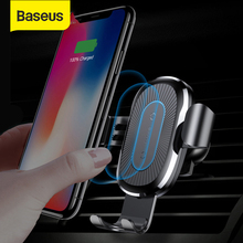 Baseus Qi Car Wireless Charger for iPhone X Xs XR 8 7 10W Fast Charger Car Mount Holder for Samsung S9 S8 Car Phone Charger