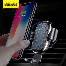 Baseus Qi автомобильное беспроводное зарядное устройство для iPhone X Xs XR 8 7 10 Вт Быстрое зарядное устройство Автомобильный держатель для Samsung S9 S8 автомобильное зарядное устройство для телефона