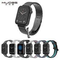 Correa de Metal para Xiaomi Mi Watch con conector, correa de cuero para reloj, compatible con accesorios de reemplazo de silicona