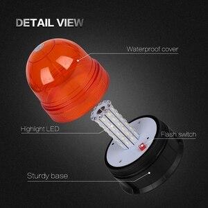 Image 4 - 12V 24V netic Roof 60 LED Rotating Flashing Beacon Light Flexible Warning Light Emergency Lamp Tractor Truck SUV Boat