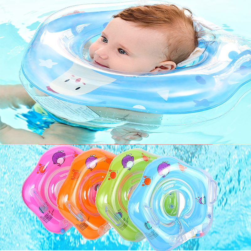 Baby Swimming Accessories Neck Ring Tube Safety Infant Float Circle For Bathing Inflatable Water Dropship Inflatable Flamingo