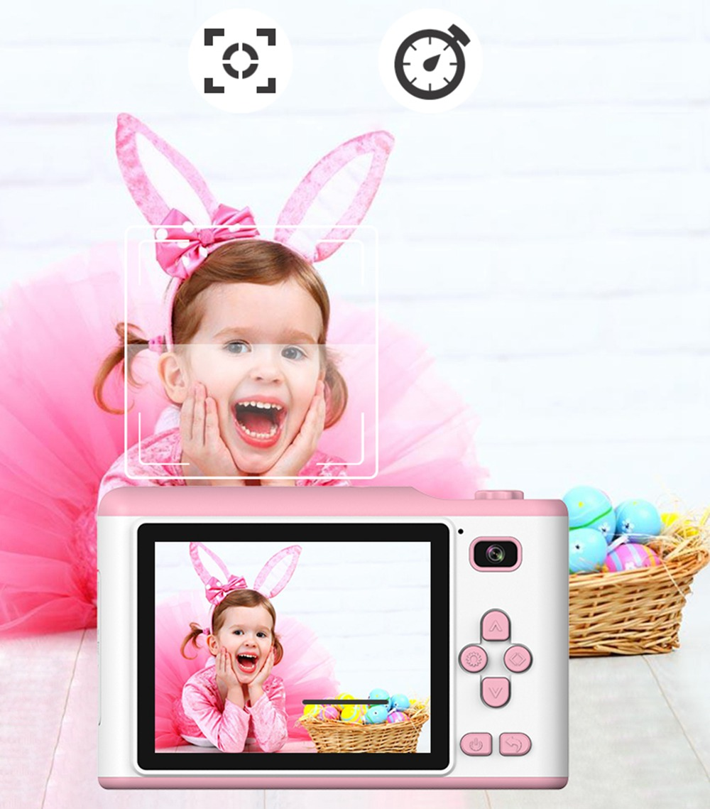 "He6f33793b87a40b1b0d844ce76ed7fdeO Children Camera 2.8"" IPS Eye Protection Screen HD Touch Screen Digital Dual Lens 18MP Camera for Kids"