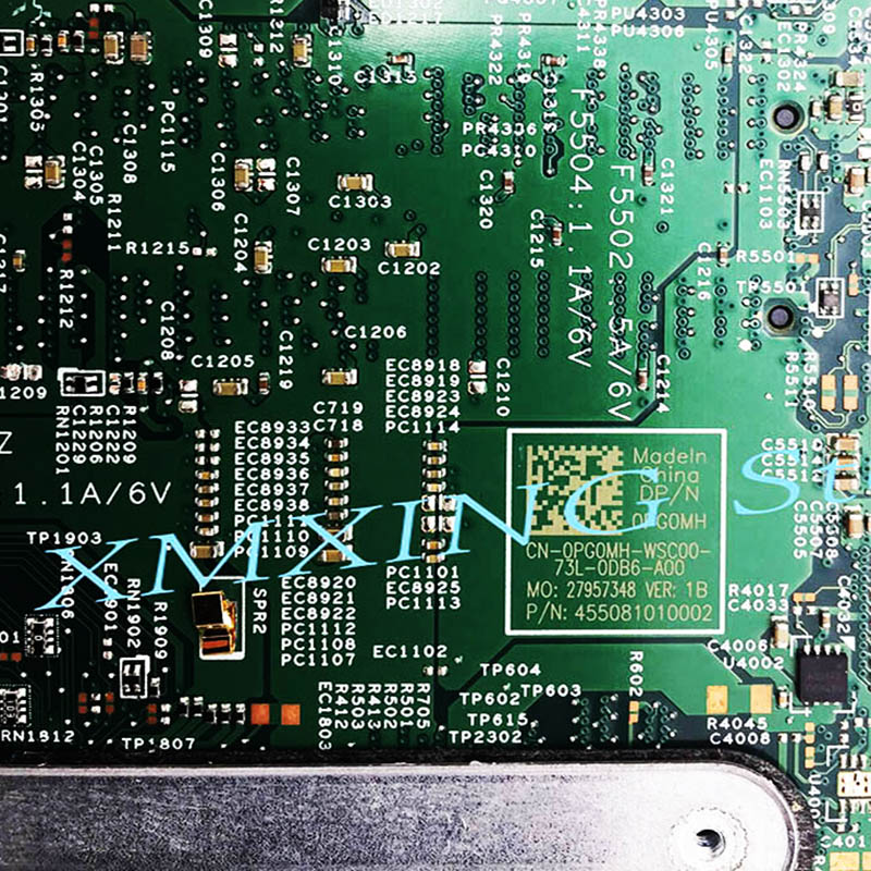 FULCOL For DELL INSPIRON 5368 5568 5378 7378 Laptop Motherboard I5-7200U CPU CN-0PG0MH 0PG0MH PG0MH Tested 100% work 3