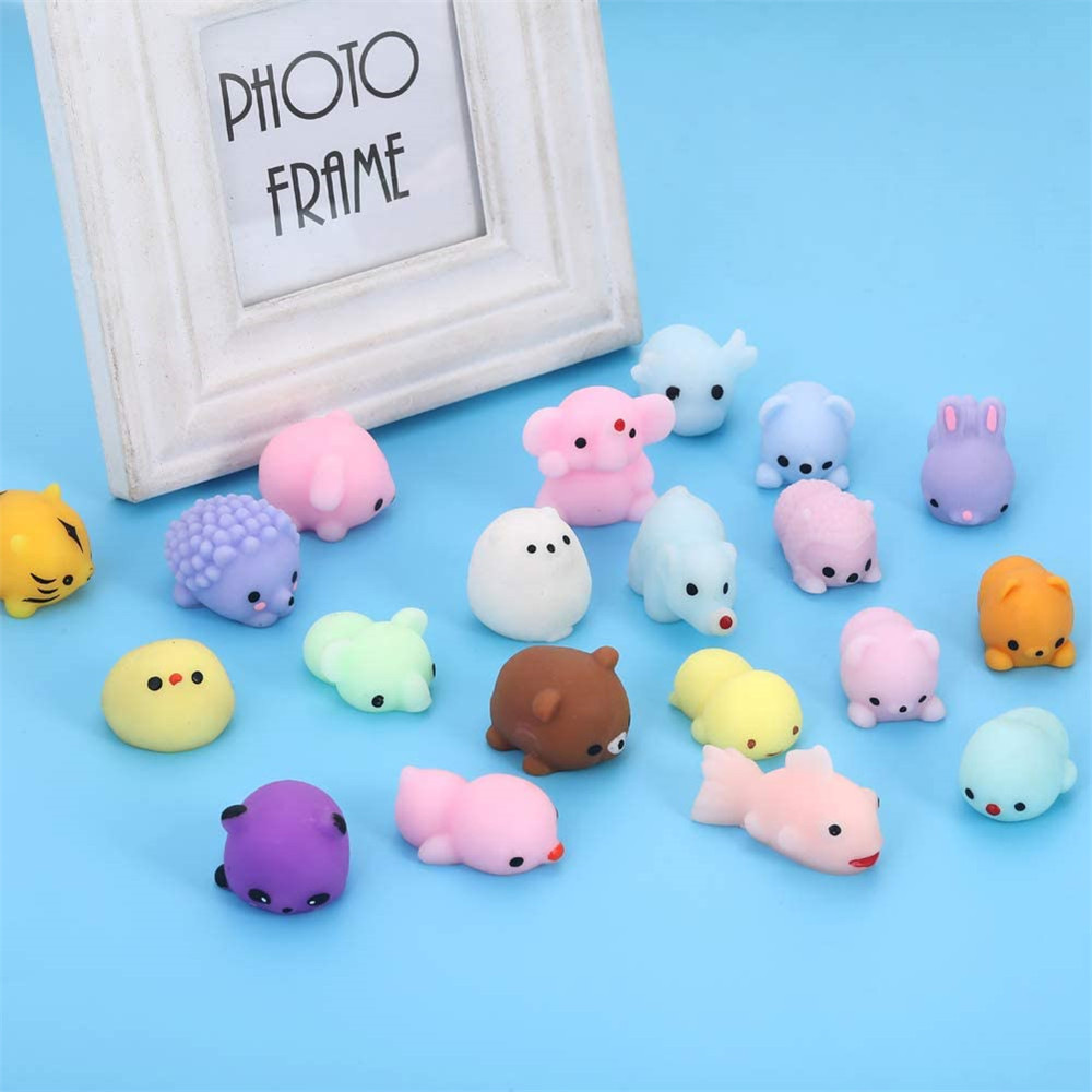 24pcs Party Favors for Kids Mochi Squishy Toy moji Kids Party Favors Mini Kawaii squishies img4