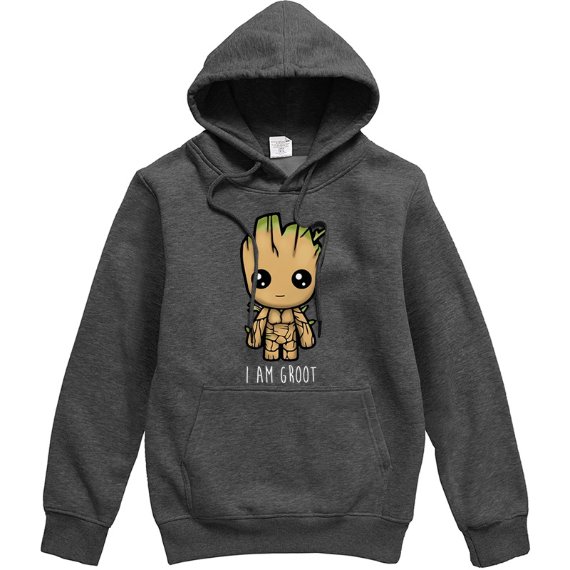 I AM GROOT Movie Series Printed Male Hoodies Avengers Hoody Csaual Hip Hop Mens Pullover Funny Streetwear Hipster Tracksuit Top