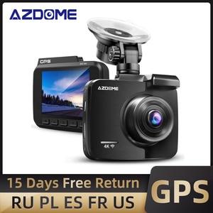 Image 1 - AZDOME GS63H Auto Dash Cam 4K 2160P Dash Kamera Dual Objektiv Gebaut in GPS DVR Recorder Dashcam Mit wiFi G Sensor Loop Aufnahme
