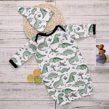 2pcs/Set! Newborn Sleepwear Kids Robe Infant Boys Girls Cartoon Baby Sleeping Bag Winter Bathrobe Pajamas +Hat 0-3M