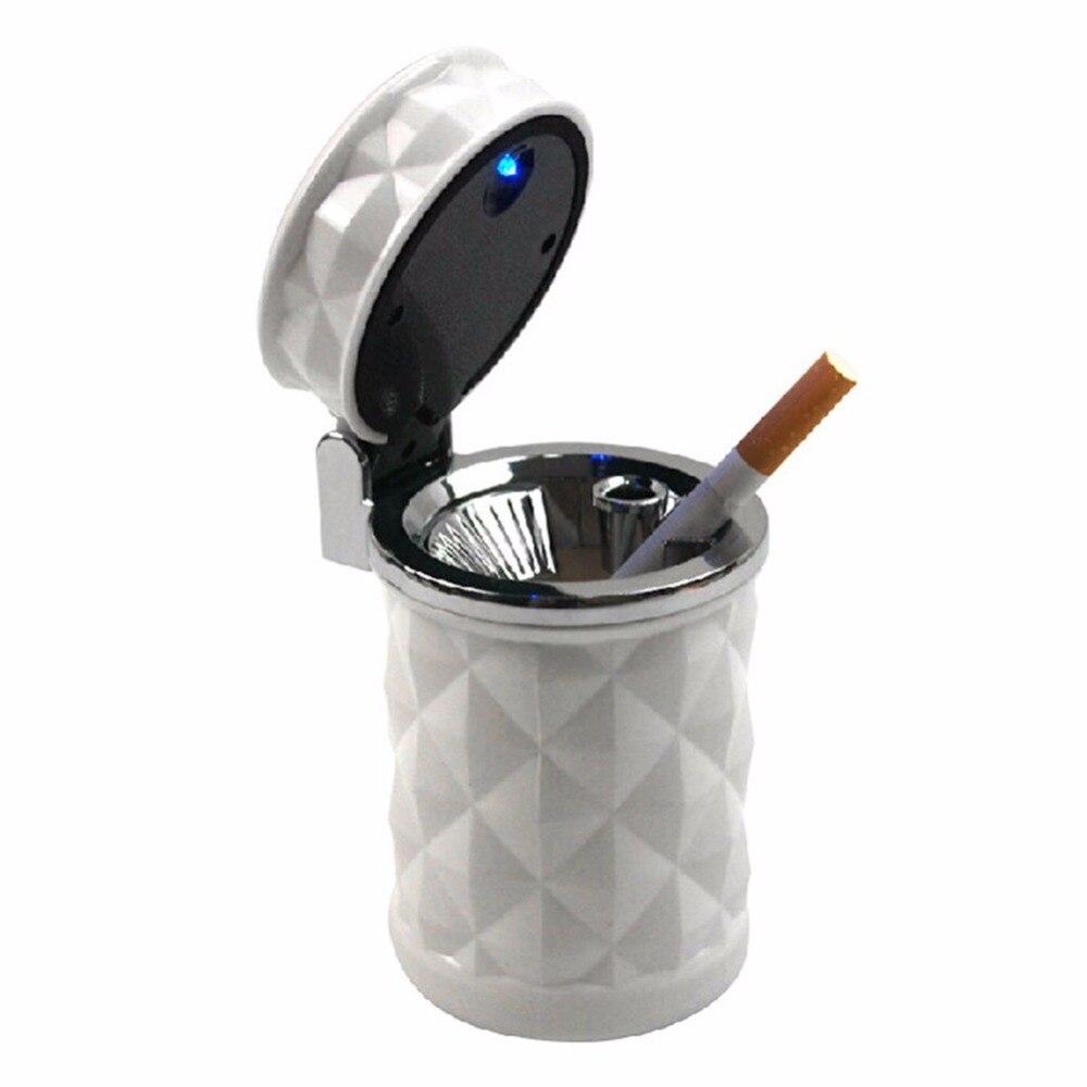 Light Car Cup Car Accessories Black And White Car Ashtray LED Light Cigarette Lighter