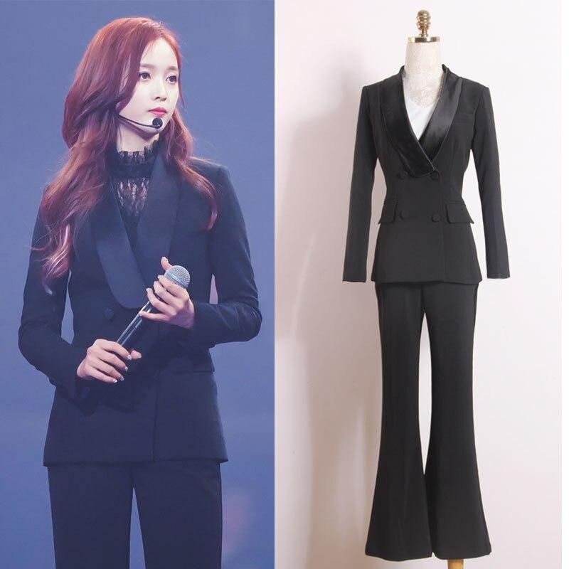 Women's suit fashion slim women's suit two piece suit blazer with slacks trousers women's business casual professional wear set