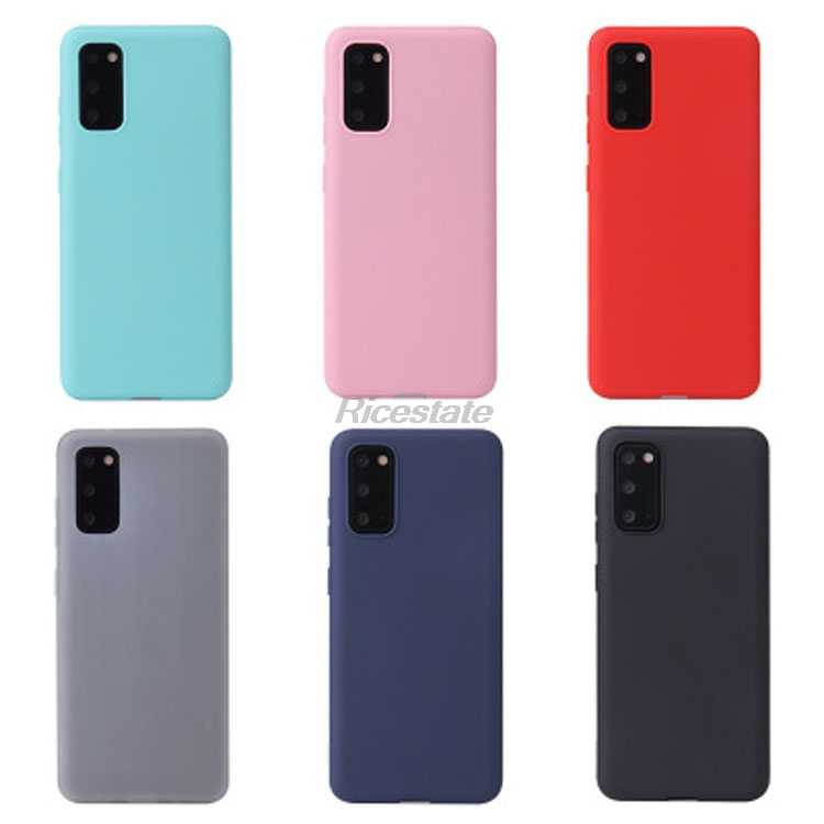 Case For Samsung Galaxy S20 S20 Ultra S9 S10 Plus A01 A21 A31 A51 A71 A10 A20 A30 A40 A50 A70 E Solid Color Silicone Cover Funda