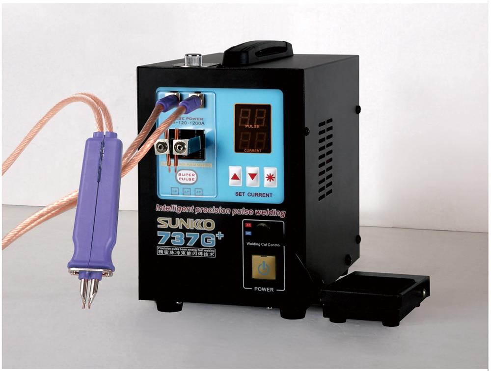Lithium Machine Welding Shipping Power Spot High Pulse Spot   Welders SUNKKO737G Free 110V 18650 Batteries For Automatic