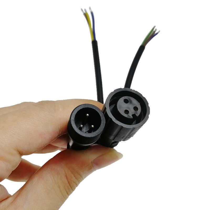 Prise mâle et femelle IP67 LED connecteur de câble étanche 2/3/4 broches 0.5/0.75 (mm2) alimentation d'accueil connecteur automobile/Aviation