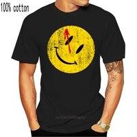 Camiseta de sudadera con botones con sangre, camiseta de héroes de Watchmen, cómico, cómic, TV, Smile