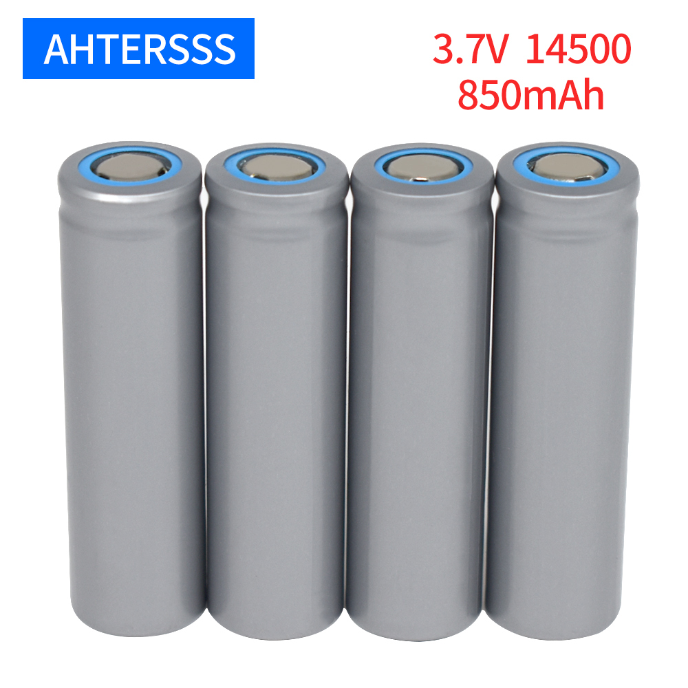 1-20 piece <font><b>14500</b></font> rechargeable battery 3.7V lithium AA 2A <font><b>14500</b></font> 850mAh flat head contact batteries image