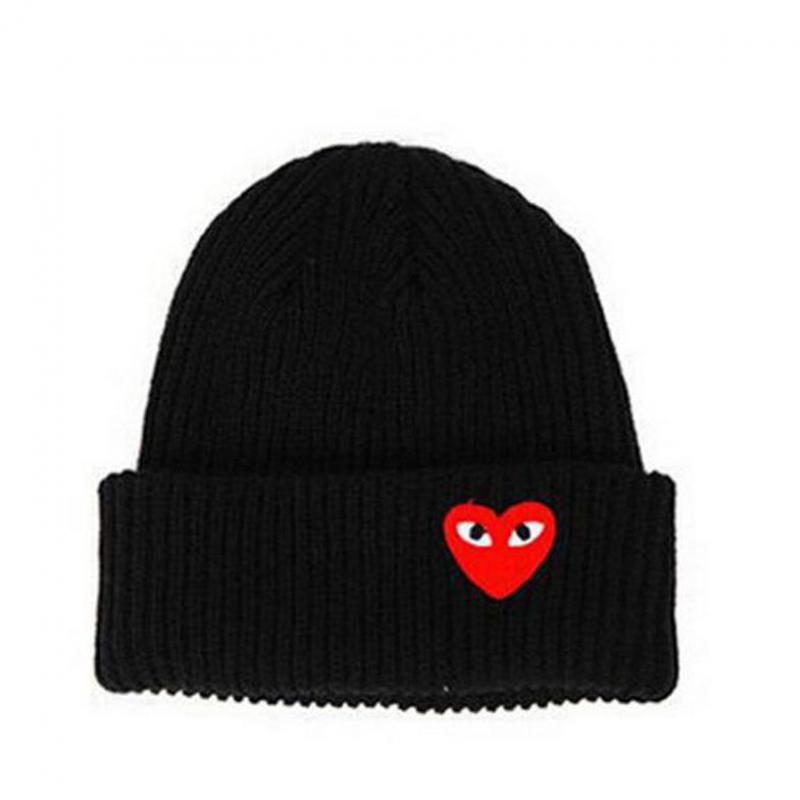 Fashion Winter Warm Heart Eyes Cartoon Hats Women Label Beanies Knit Hat Toucas Bonnet Hats Man Hat Crochet Cap Skullies Gorros