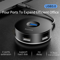 BASUES USB C HUB USB 3.0 HUB Splitter Multiple USB Hab Type C HUB 2.0 Multi Hab Expander 4 Port HUB for PC Laptop
