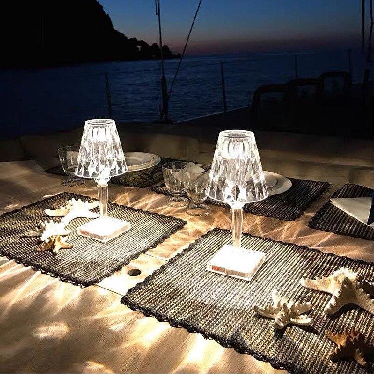 Crystal Diamond Table Lamp