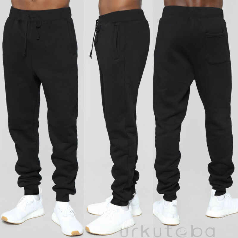 New Fashion Mens Sport High Waist Trousers Sweat Pants Jogging Joggers Tracksuit Hiphop Casual Bottoms Black Red Green