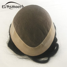 Evasmooth Men Toupee Human Hair Durable Mono Npu Base Replacement Systems Remy Hair Toupee Mens Natural Human Wig Men Hairpieces