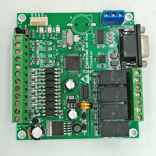 Programmeerbare Logische Controller Plc FX2N 10MR STM32 Mcu 6 Ingang 4 Uitgang Ad 0 10V Motor Controller Dc 24V Automatische Relais Controle