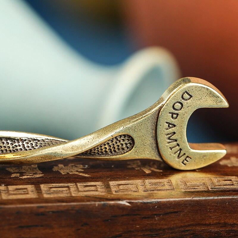 brass wrench rope key pendants (5)