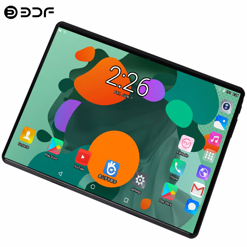 BDF 4GB/64GB Tablet 2.5D Glass 10 Inch Tablet Pc Android 7.0 Octa Core 1280*800 HD IPS 3G/4G LTE WIFI Pad Tablet 10 10.1 Gifts