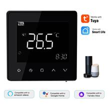 Tuya WiFi inteligentny termostat regulator temperatury do wody elektryczne ogrzewanie podłogowe kocioł gazowy do Alexa Google Home termostat tanie tanio CN (pochodzenie) Smart Thermostat