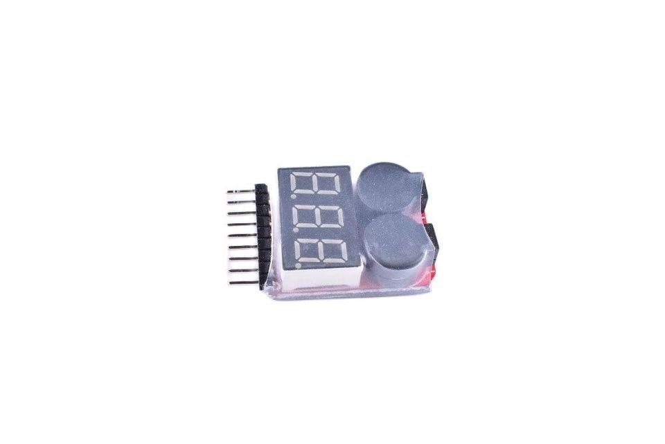 RC Lipo Battery Low Voltage Alarm 1S-8S Buzzer Voltage Checker Tester LED B2AM