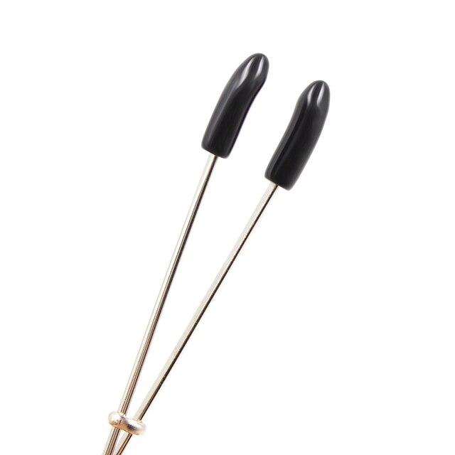 Ajustable de clips para labios producto del sexo abrazaderas de pezón juguetes sexuales con cadena de Metal juego de adultos clítoris abrazadera juguetes para adultos