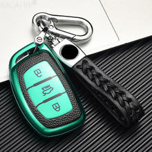 Цвет кожа + ТПУ ключа автомобиля чехол для hyundai ix30 ix35