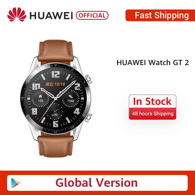 In Stock Global Version HUAWEI Watch GT Smart Watch 14 Days Battery Life 5ATM Waterproof 1.39'' AMOLED Screen Heart Rate Tracker