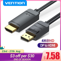 Vention Display Port to HDMI 4K*2K 30Hz DP to HDMI Cable for PC Laptop HDTV Projector Video Audio Cable DisplayPort to HDMI