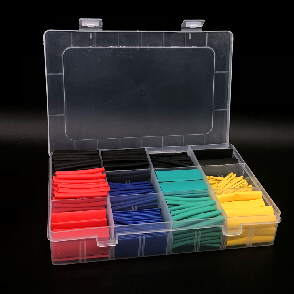 530PCS Heat Shrink Tube Tubing Insulation Shrinkable Tube Assortment Electronic Polyolefin Wire Cable Sleeve Kit
