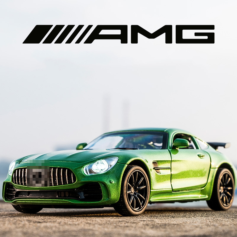Scale 1:32 AMG Alloy Pull Back Diecast Metal Car Model MINI AUTO With Sound Light Toys For Children Hot Xmas Gifts Wheel