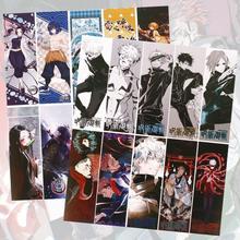 10 pçs/set anime demon slayer kimetsu não yaiba jujutsu kaisen animação marcadores de livro marcas titular papelaria presente