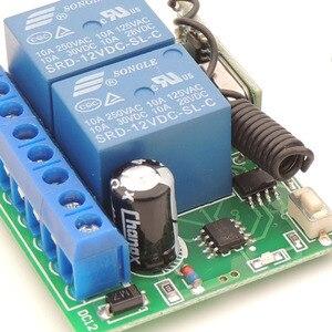 Image 3 - DC12V 10Amp 2CH 2 банды 433 МГц rf пульт дистанционного управления Переключатель Беспроводной релейный приемник для гаража \ освещение \ Электрический регулятор двери