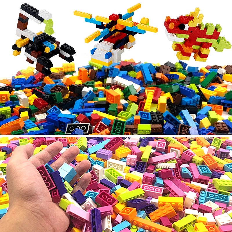 500/ <font><b>1000PCS</b></font> Blocks DIY Creative Bricks Accessories City Building Blocks Bulk Set Toys Kids Educational Toy Christmas Gift image