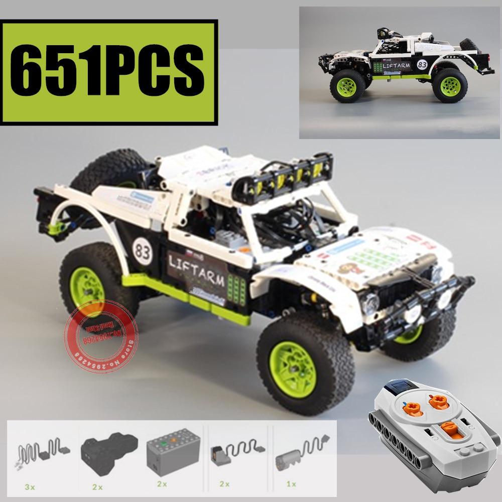 New BAJA TROPHY TRUCK Double Trouble Motor Power Function Fit Technic MOC-4874 Building Block Bricks Kid Gift
