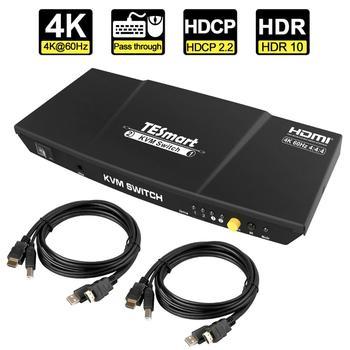 HDMI KVM Switch 2x1 4K@60Hz 4:4:4 HDCP 2.2 keyboard and mouse pass through mode 4 day pass pukkelpop 2018