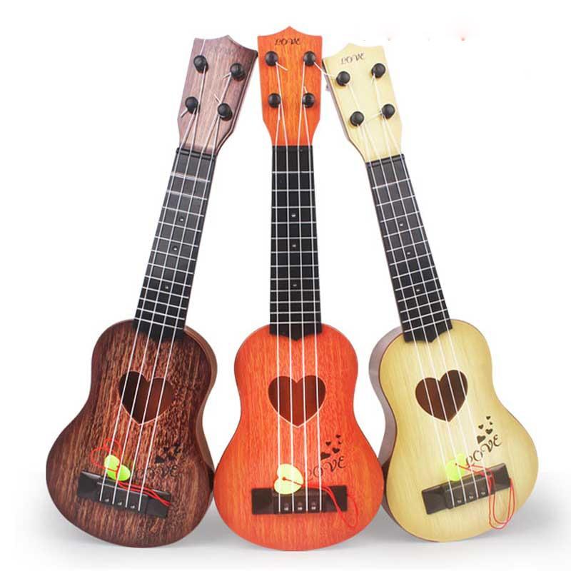 44cm Kids Guitar Mini Musical Child Ukulele Music Toys for Children Funny Education Boys 5 Years Christmas Gift