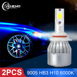 2PCS C6 HB3 9005 H10 LED Bulbs